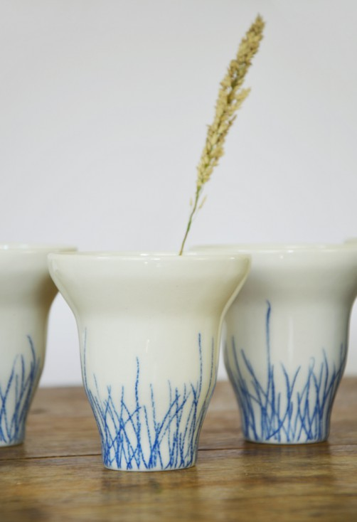 Blue grass cups